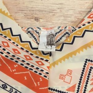 Franchesca's Tops - Franchesca's Aztec Print Tank Top, Size Large